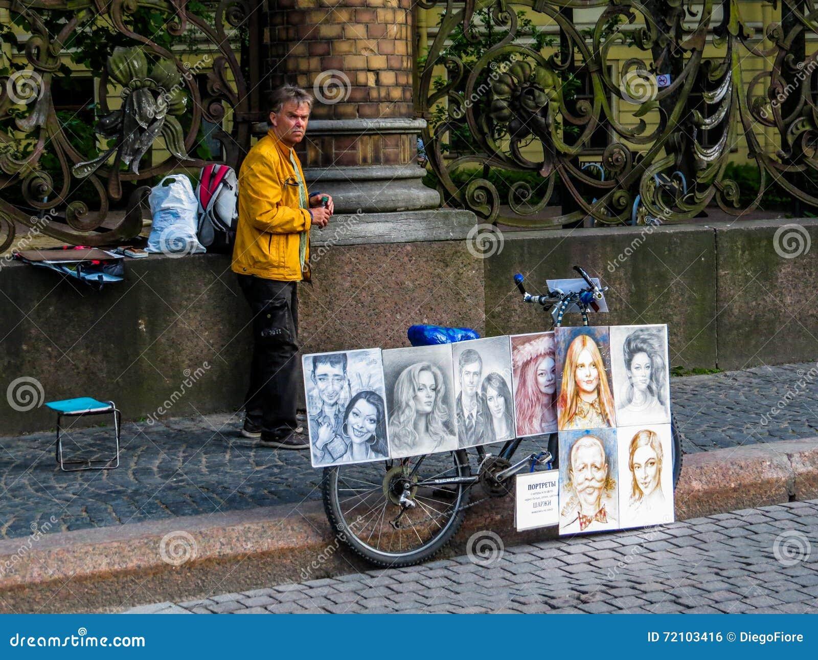 Rysk gatakonstnär