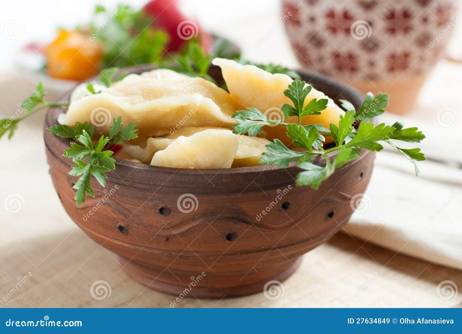 Rysk maträtt - potatisklimpar