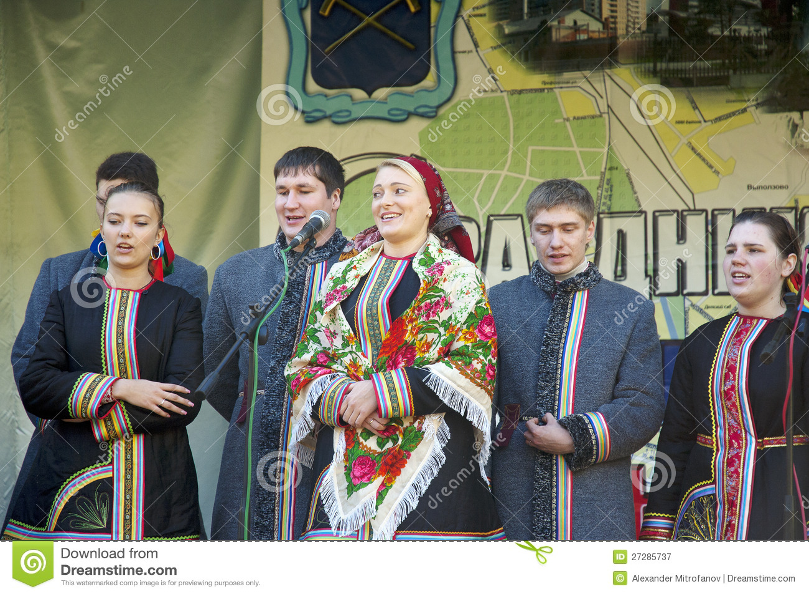 Ryska folk ansamble Lenok