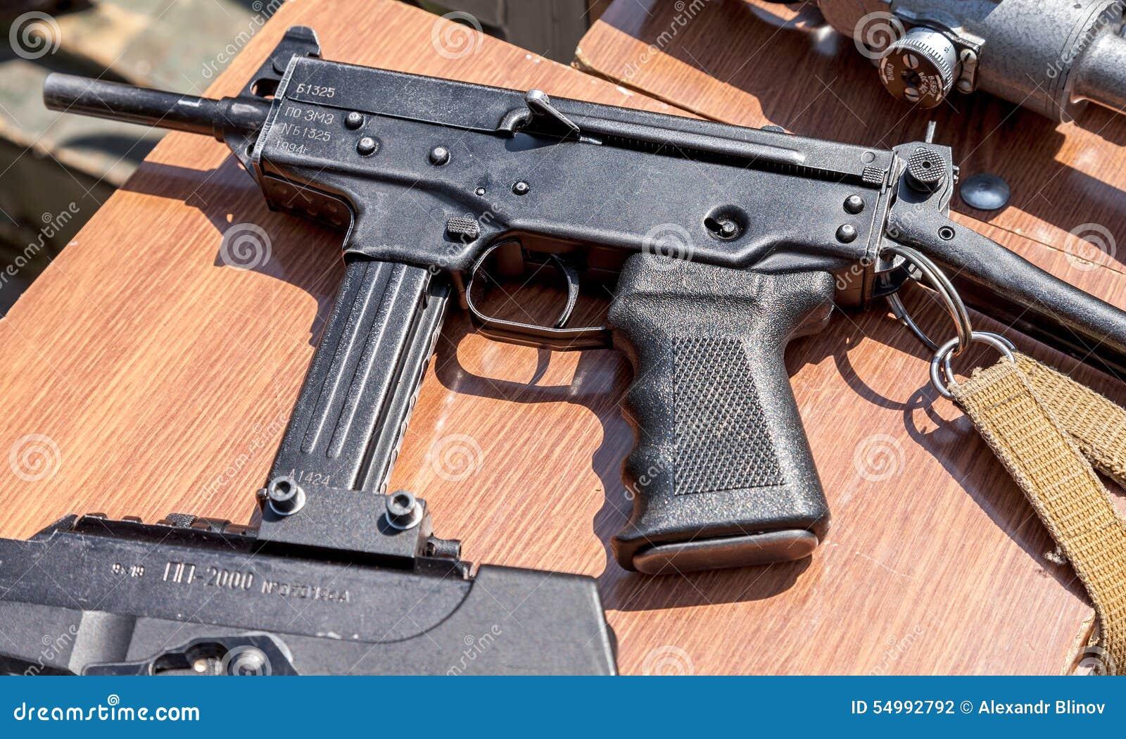 Ryska skjutvapen Kulsprutepistol Kedr