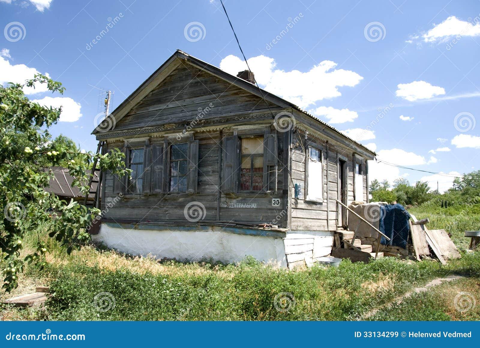 Ryskt hus för bygd