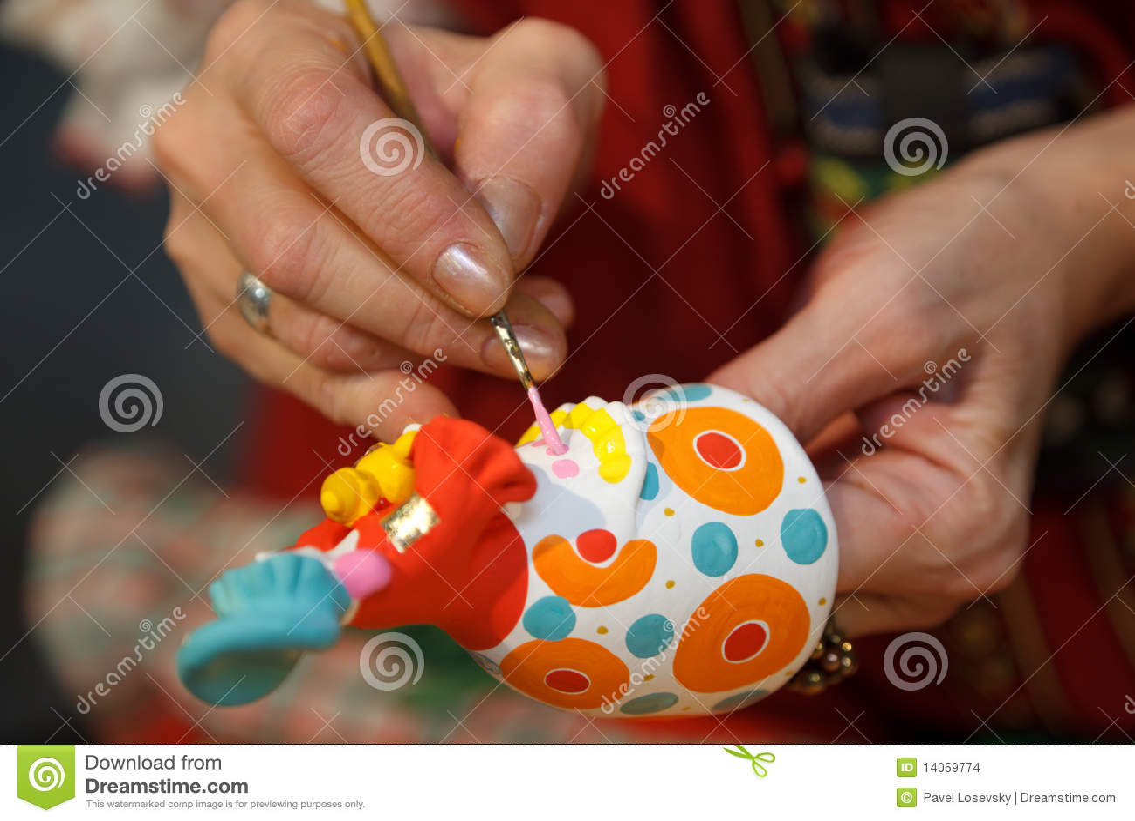 Ryss för krukmakeri för målning för hantverkfigurines folk