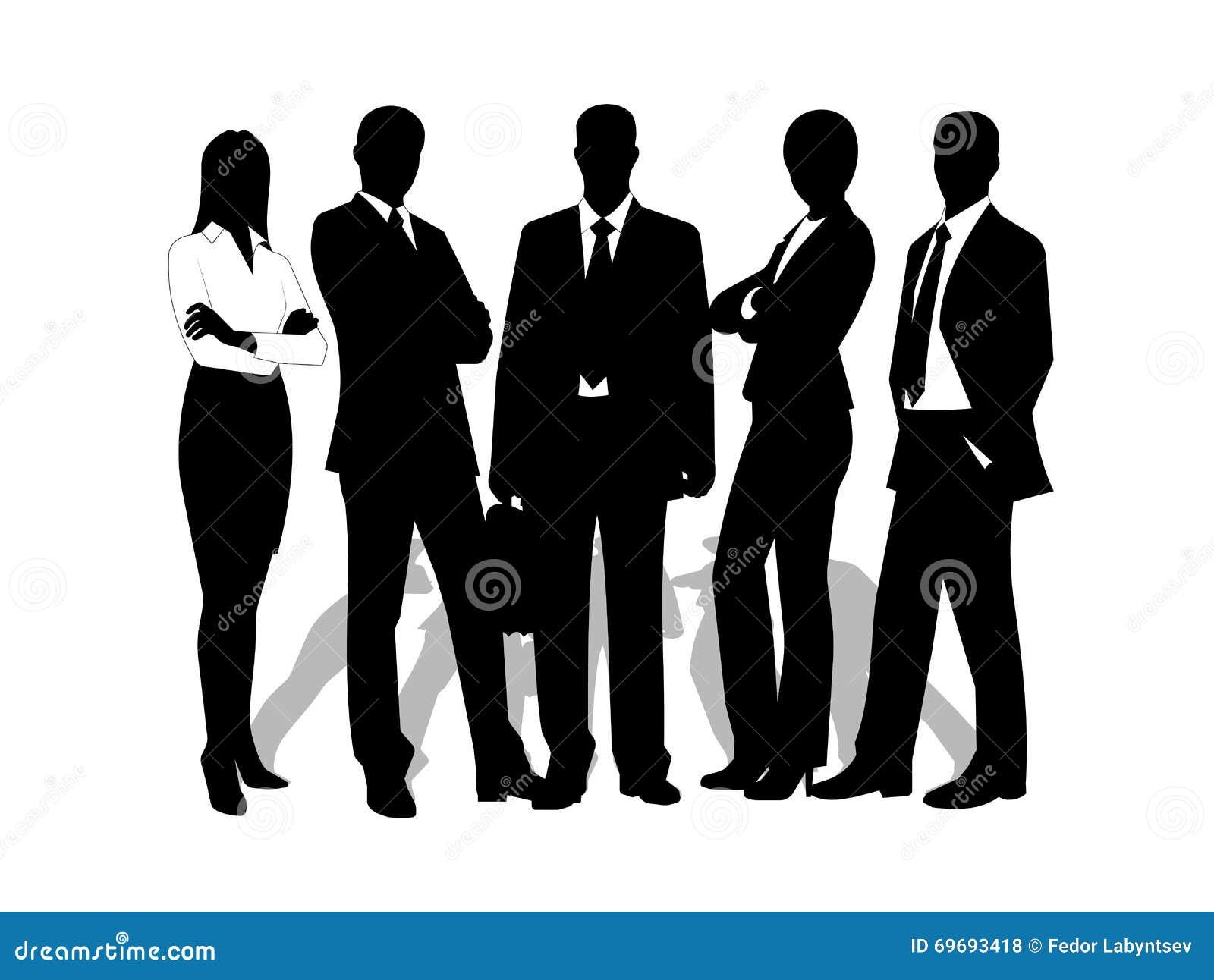 Rysunków biznesmeni na białym tle