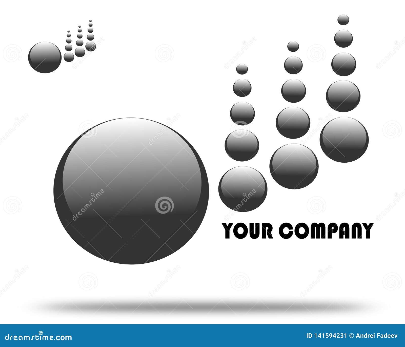 Rysunkowa firma logo czerni kropla