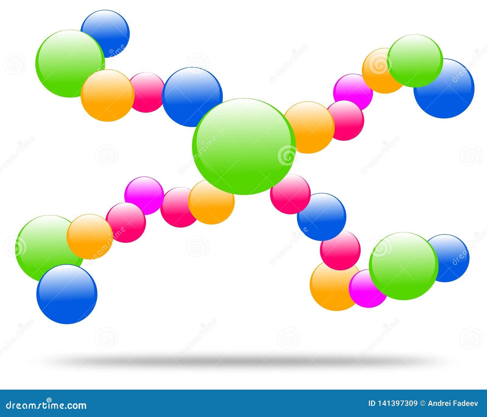 Rysunkowa firma logo molekuła