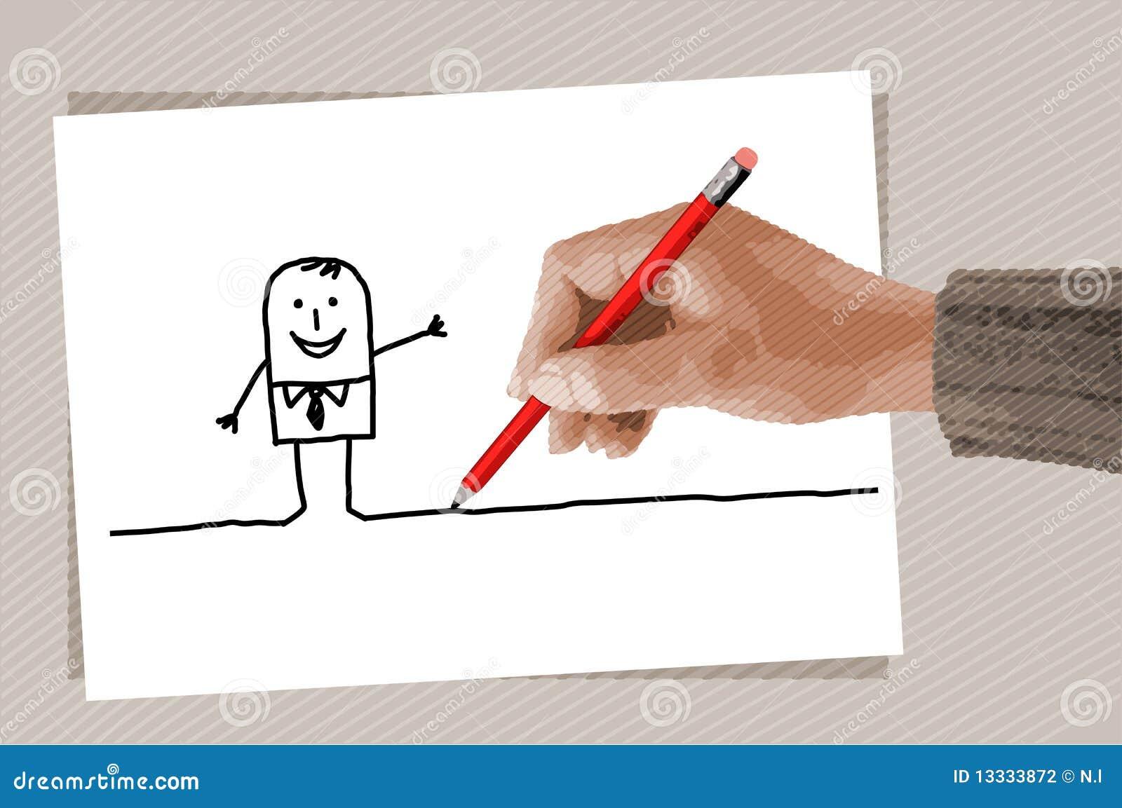 Rysunkowa ręka