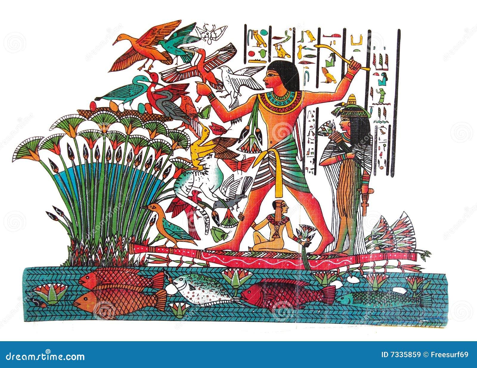 Rysunkowy egipcjanin