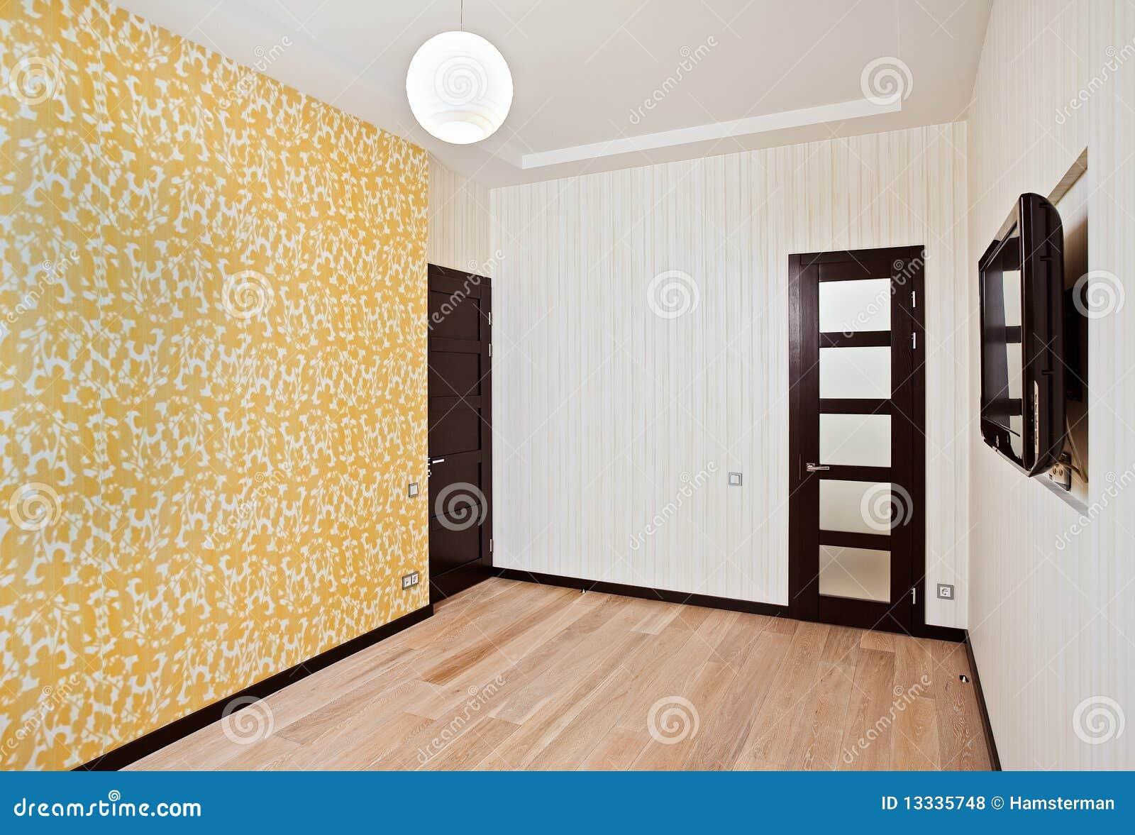 Rysunkowy pusty wewnętrzny pokój