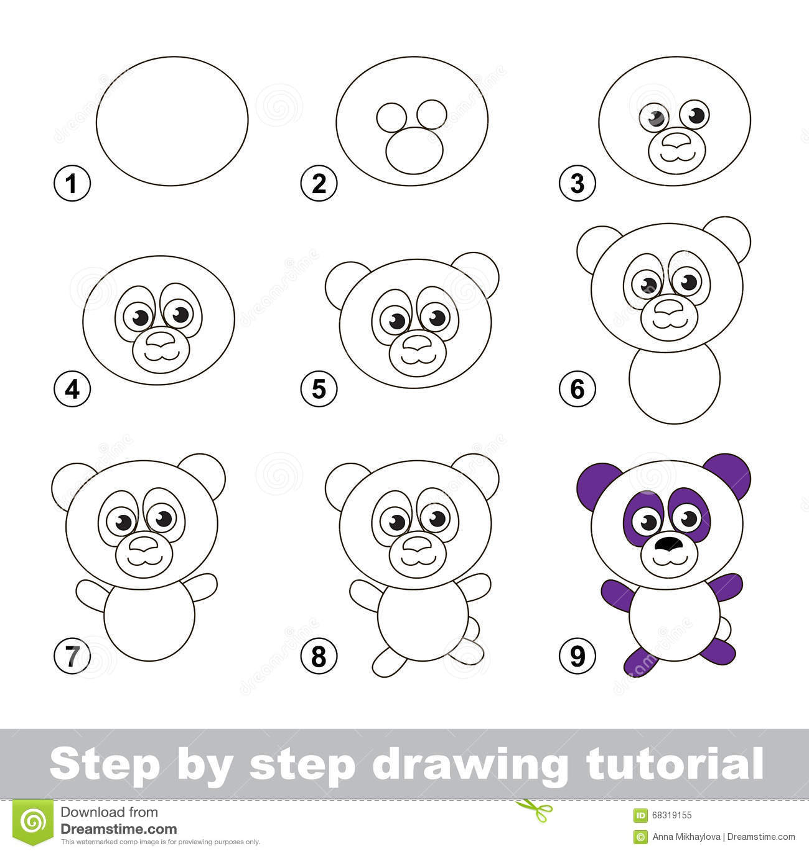 Rysunkowy Tutorial Dlaczego Rysować Pandy Ilustracja