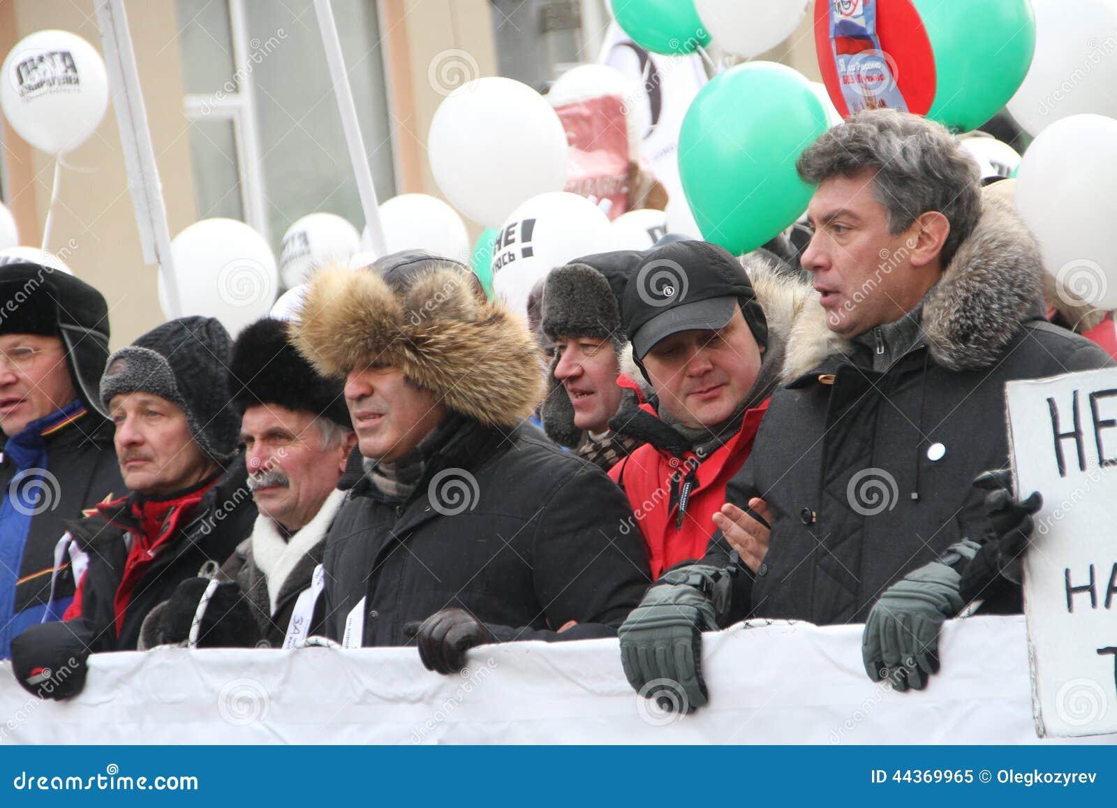Ryzhkov, Aleksashenko, Kasparov e Nemtsov sul