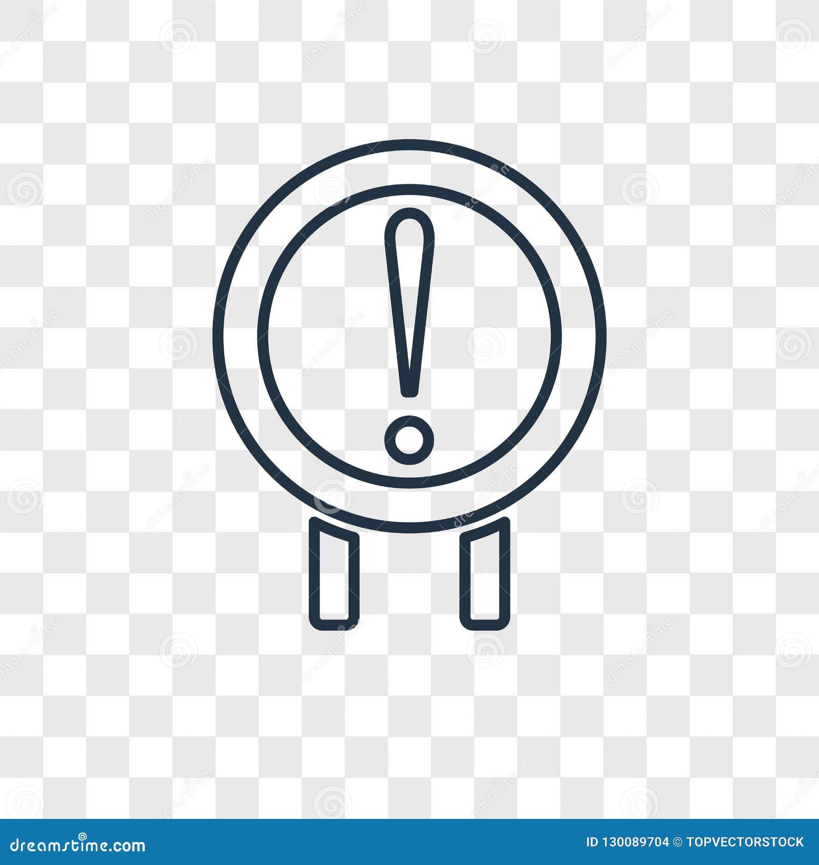 Ryzykuje pojęcie wektorową liniową ikonę odizolowywającą na przejrzystym backgrou
