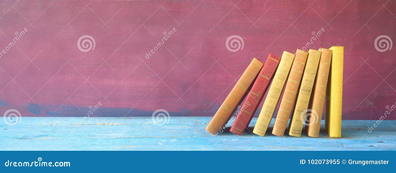 Rząd książki, panorama,