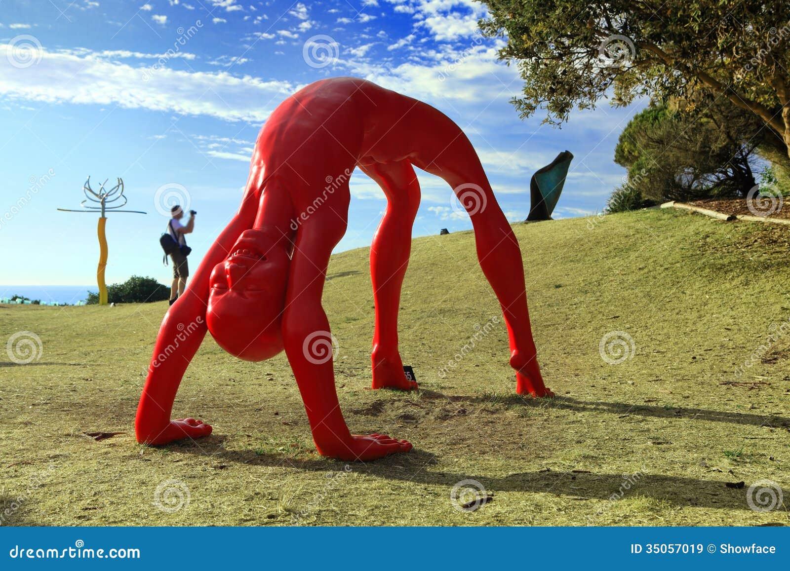 Rzeźba Dennym eksponatem Bondi Australia
