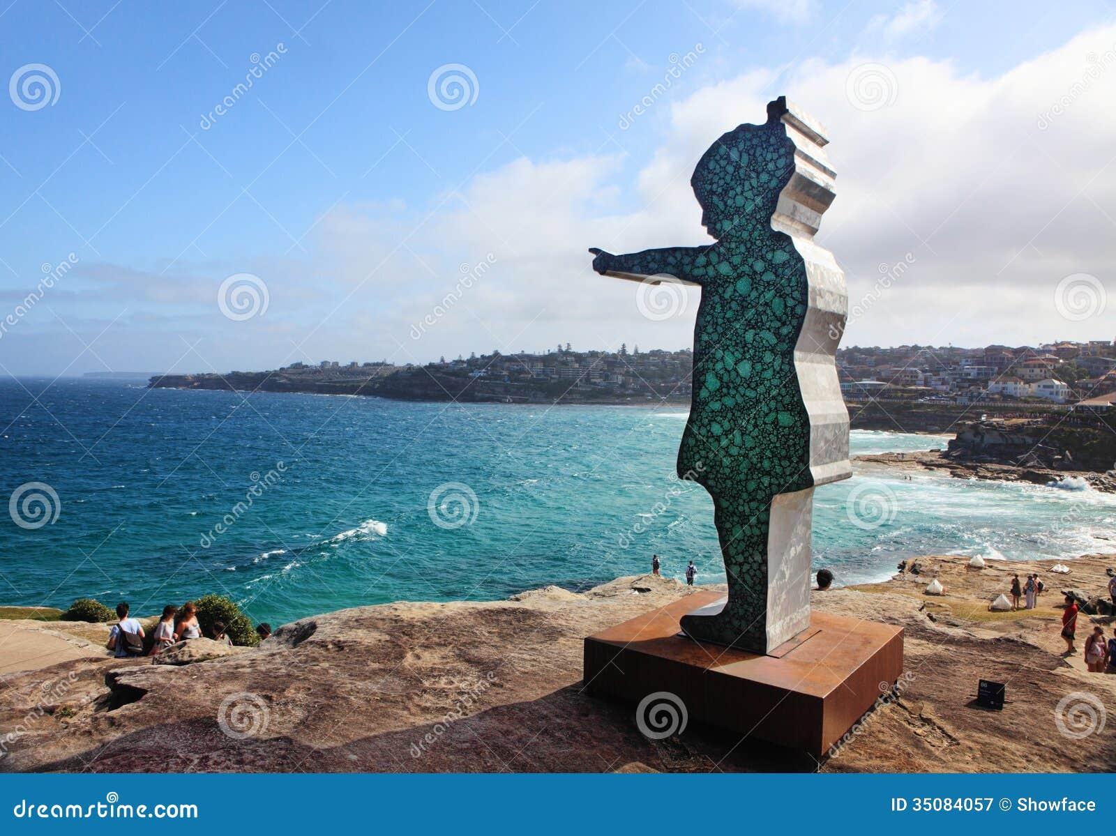Rzeźba Dennym eksponatem przy Bondi Australia