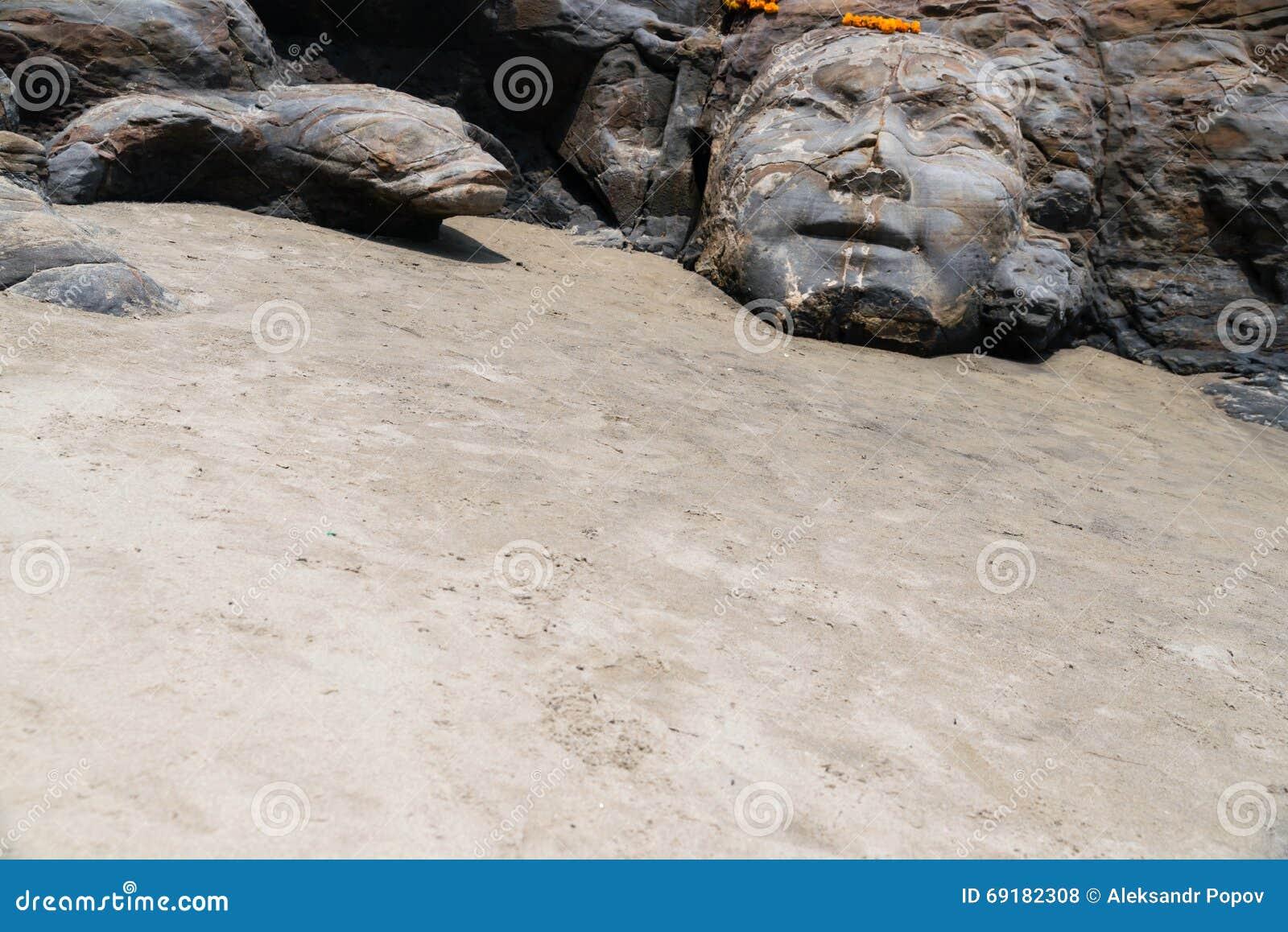 Rzeźba Shiva na plażowym Goa India
