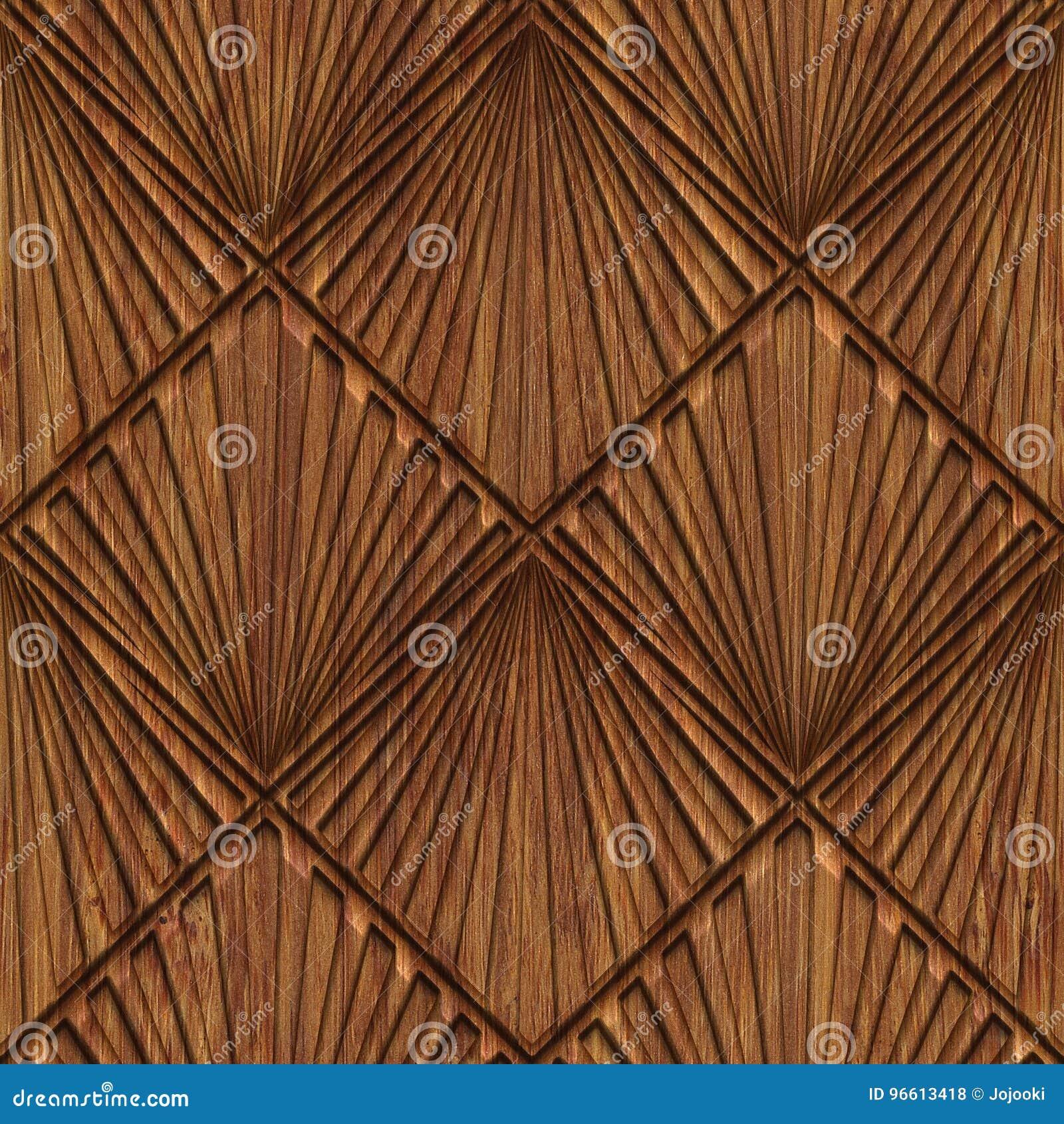 Rzeźbiąca drewniana bezszwowa tekstura