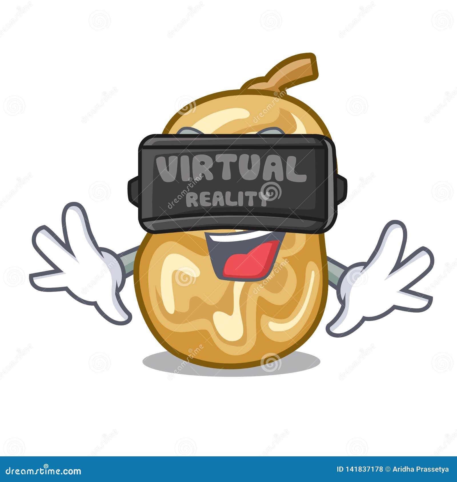 Rzeczywistość wirtualna rodzynki w charakteru pudełku