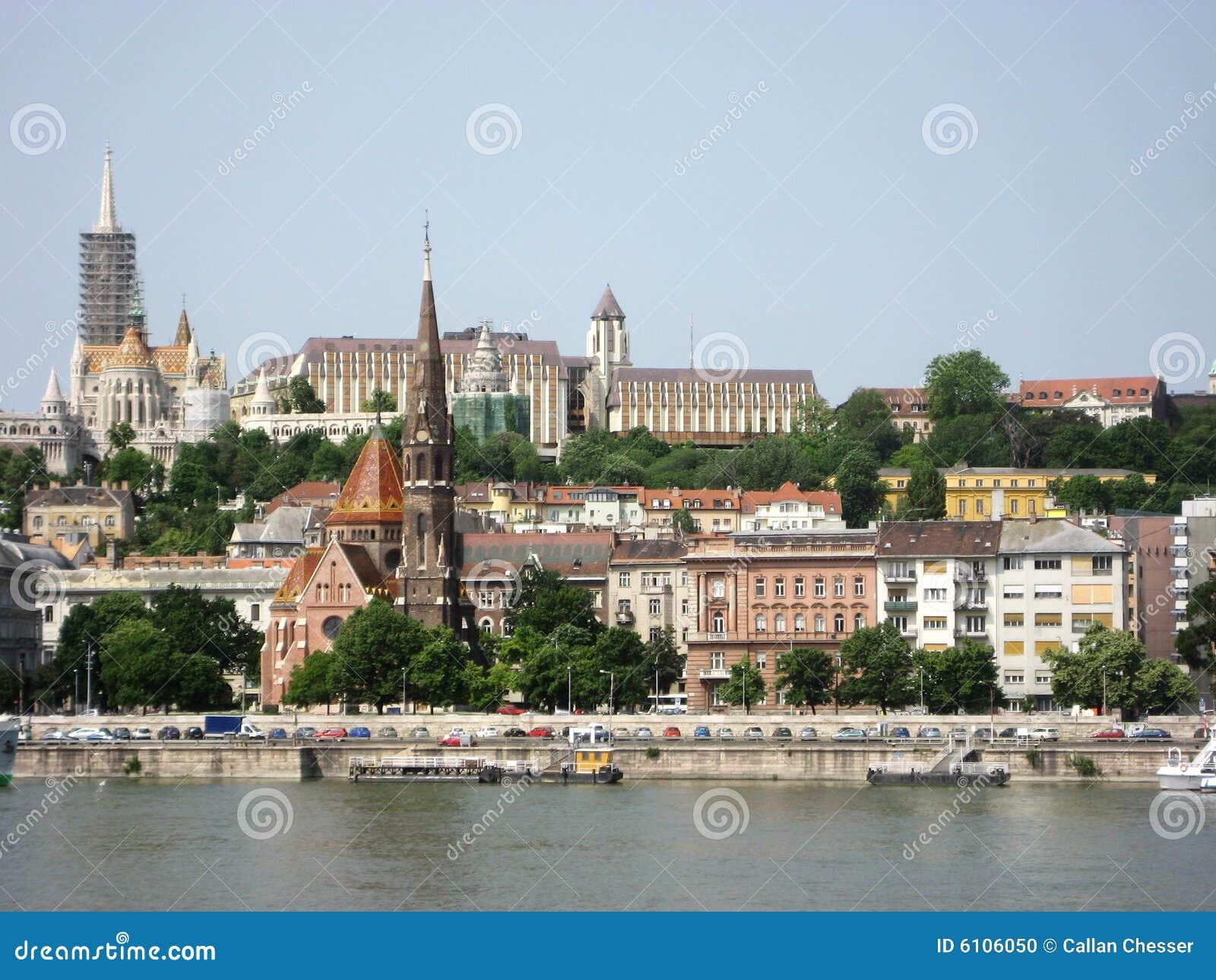 Rzeka Dunaj z budapesztu