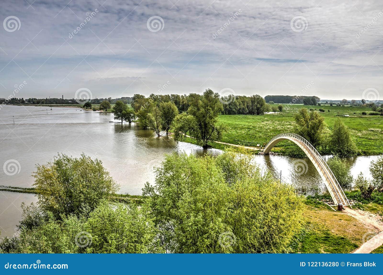 Rzeka, po, dera, most