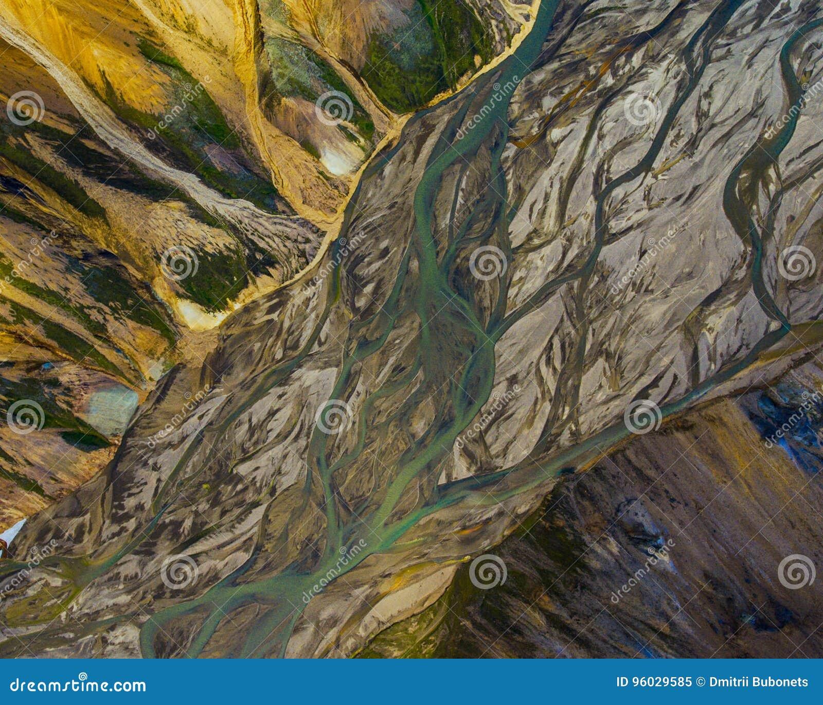 Rzeka w górach, Iceland