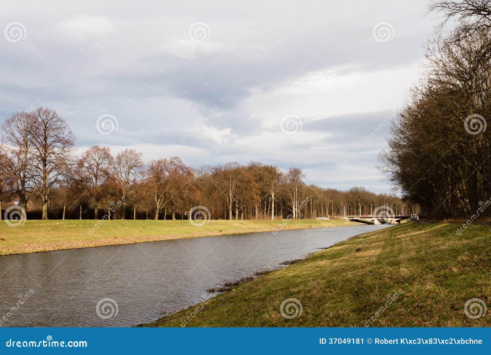 Rzeka w Leipzig, Niemcy