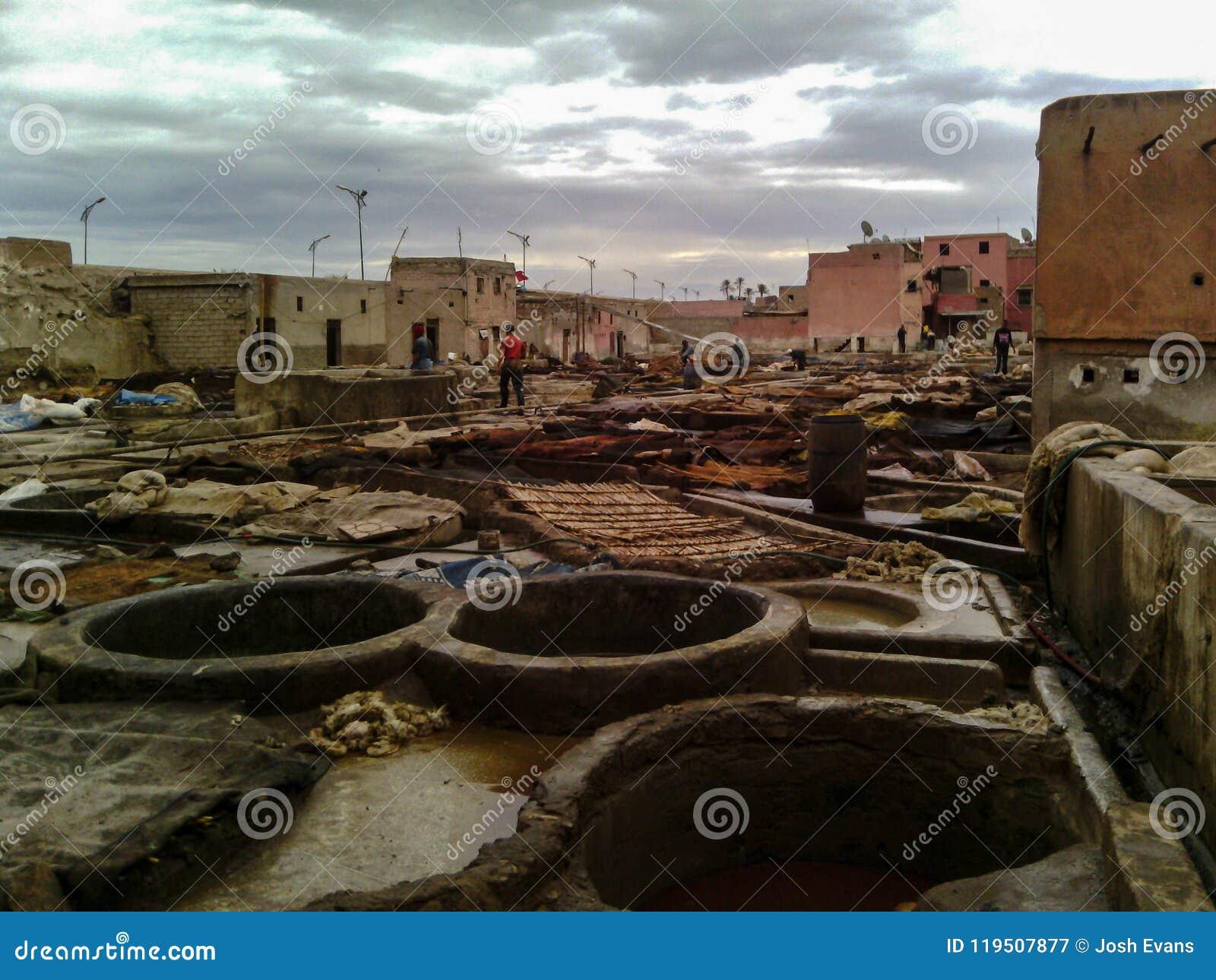 Rzemienna garbarnia, Marrakech, Maroko