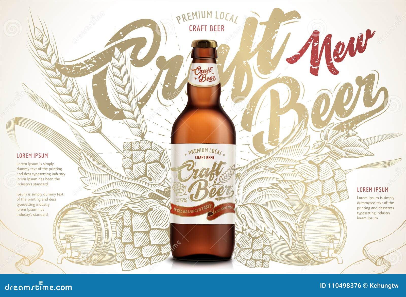 Rzemiosła piwa reklamy