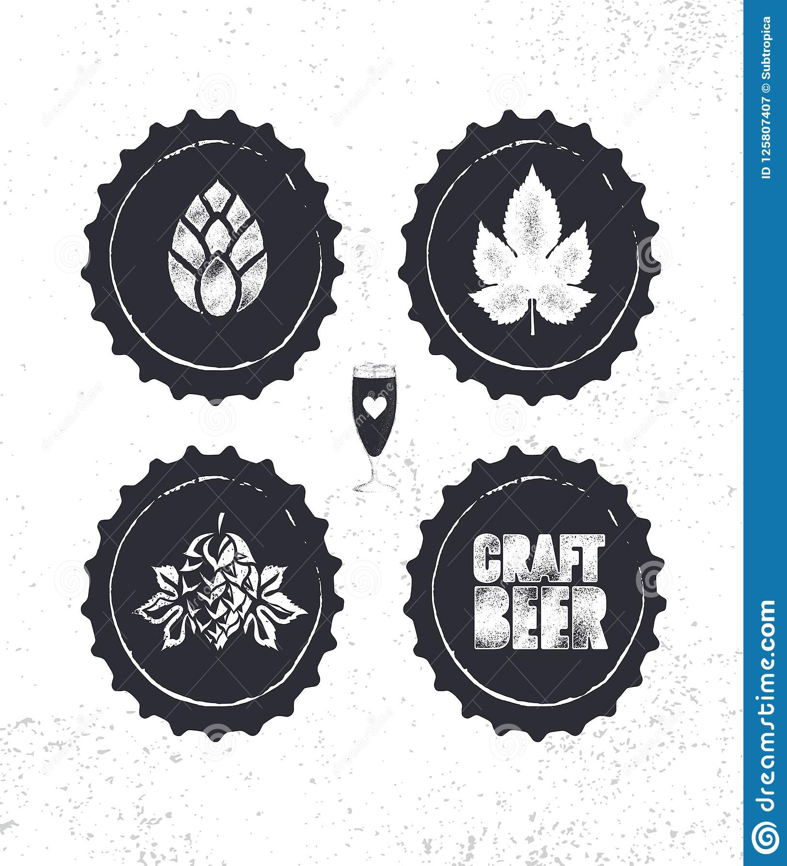 Rzemiosło browaru Piwnego rzemieślnika wektoru znaczka znaka Kreatywnie pojęcie Szorstki Handmade alkoholu sztandar Menu strony p