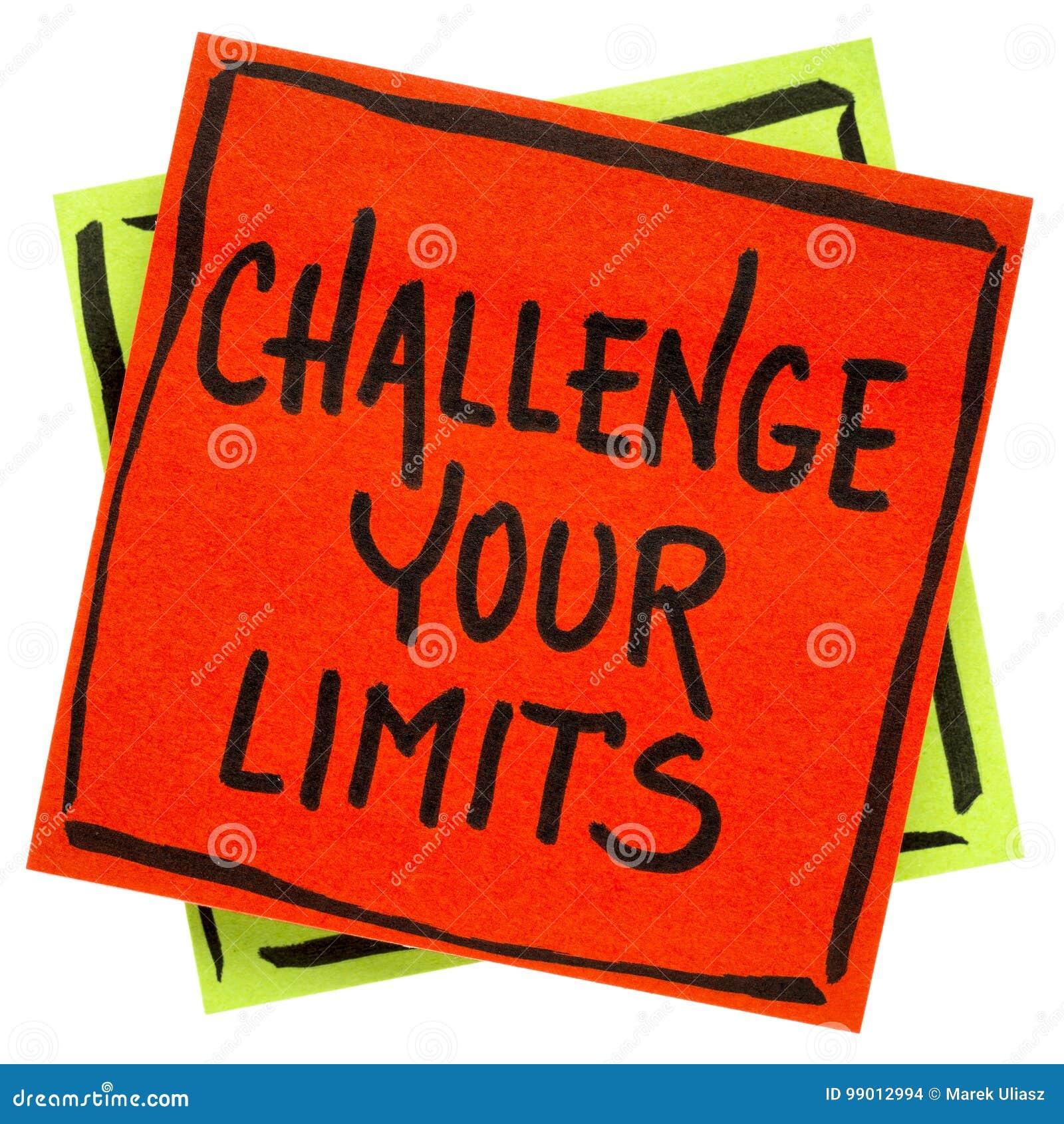 Rzuca wyzwanie twój ograniczenia przypomnienia inspiracyjną notatkę