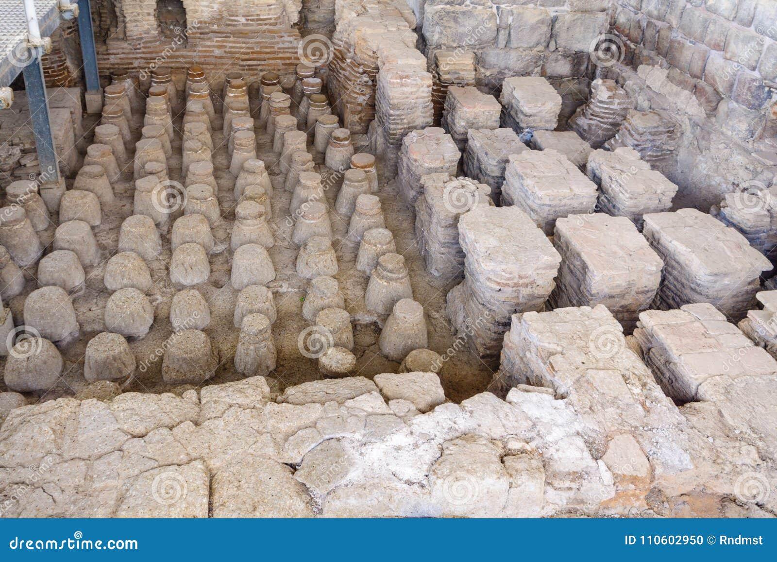 Rzymianina skąpania dom w antycznym mieście zakład Shean