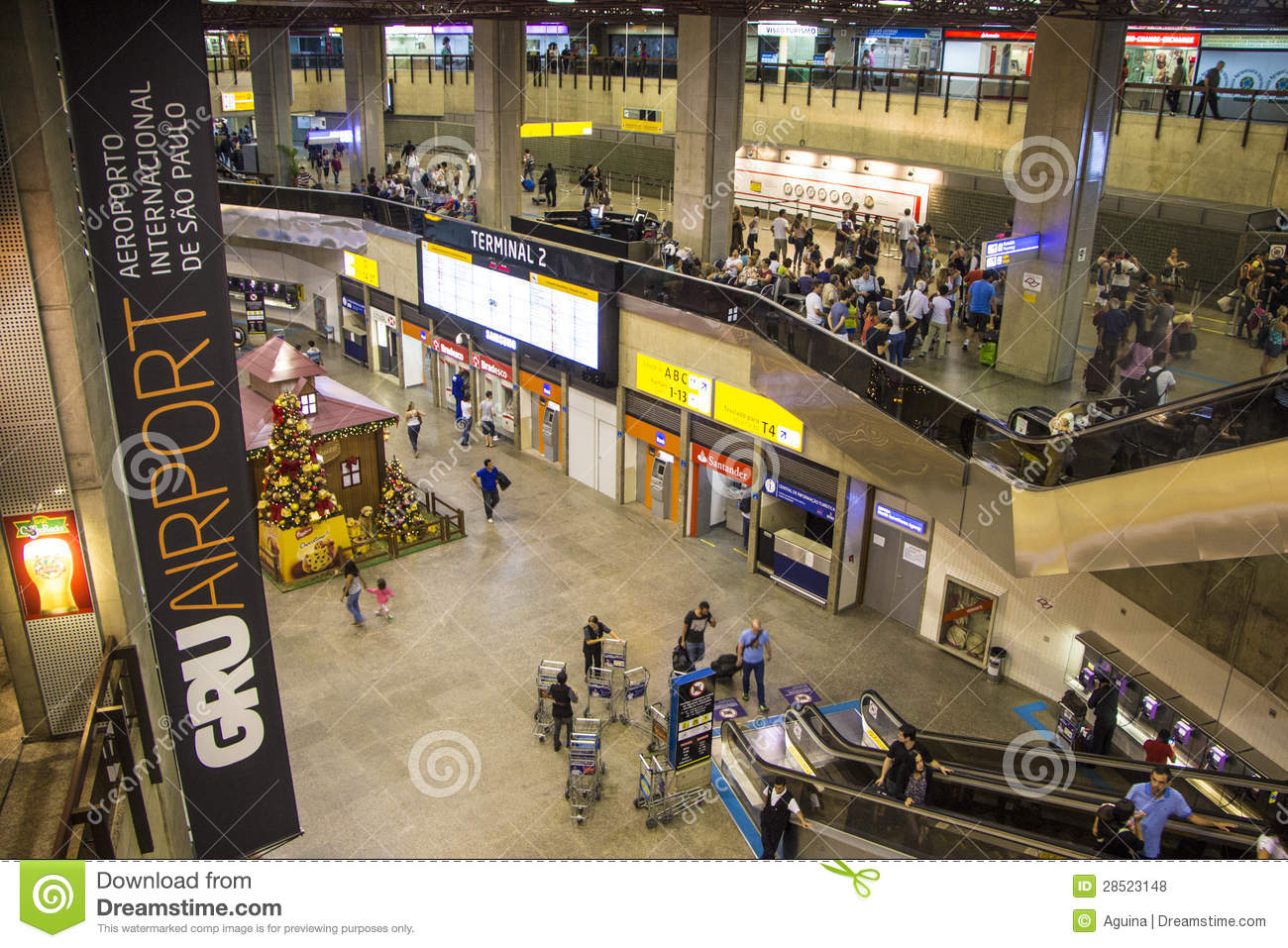 So PauloGuarulhos International Airport Brazil Editorial Stock