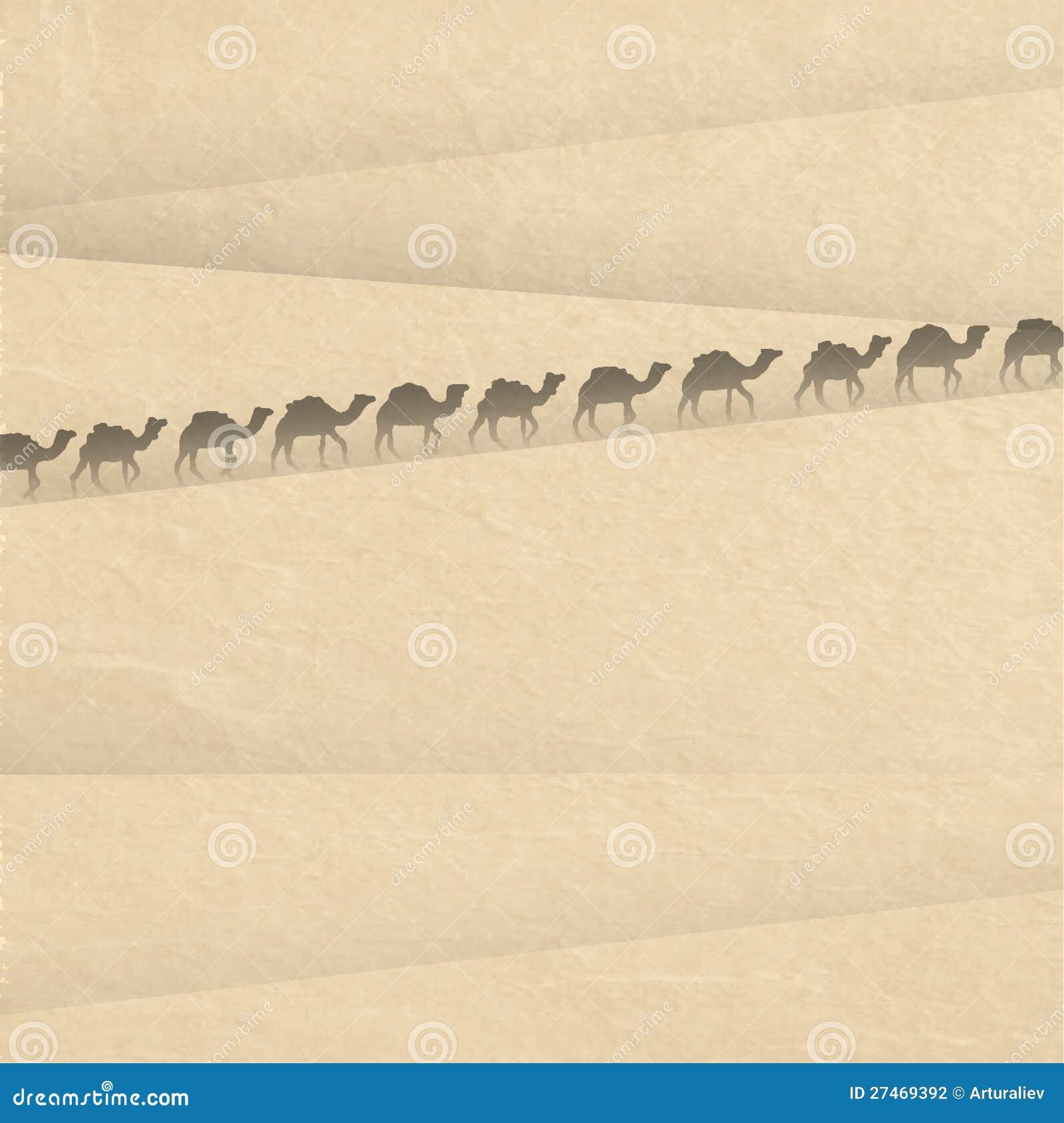 Sáhara con las siluetas de la leva