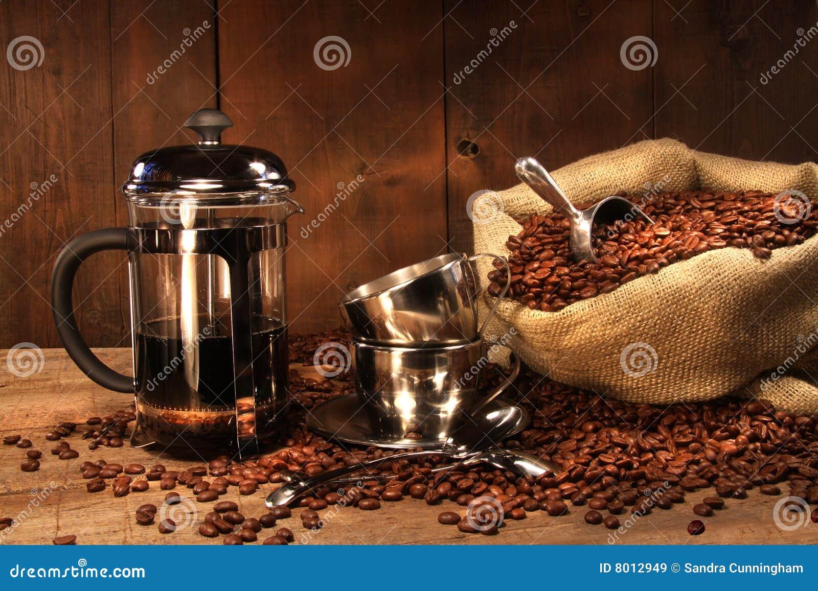 Säck för press för bönakaffe fransk