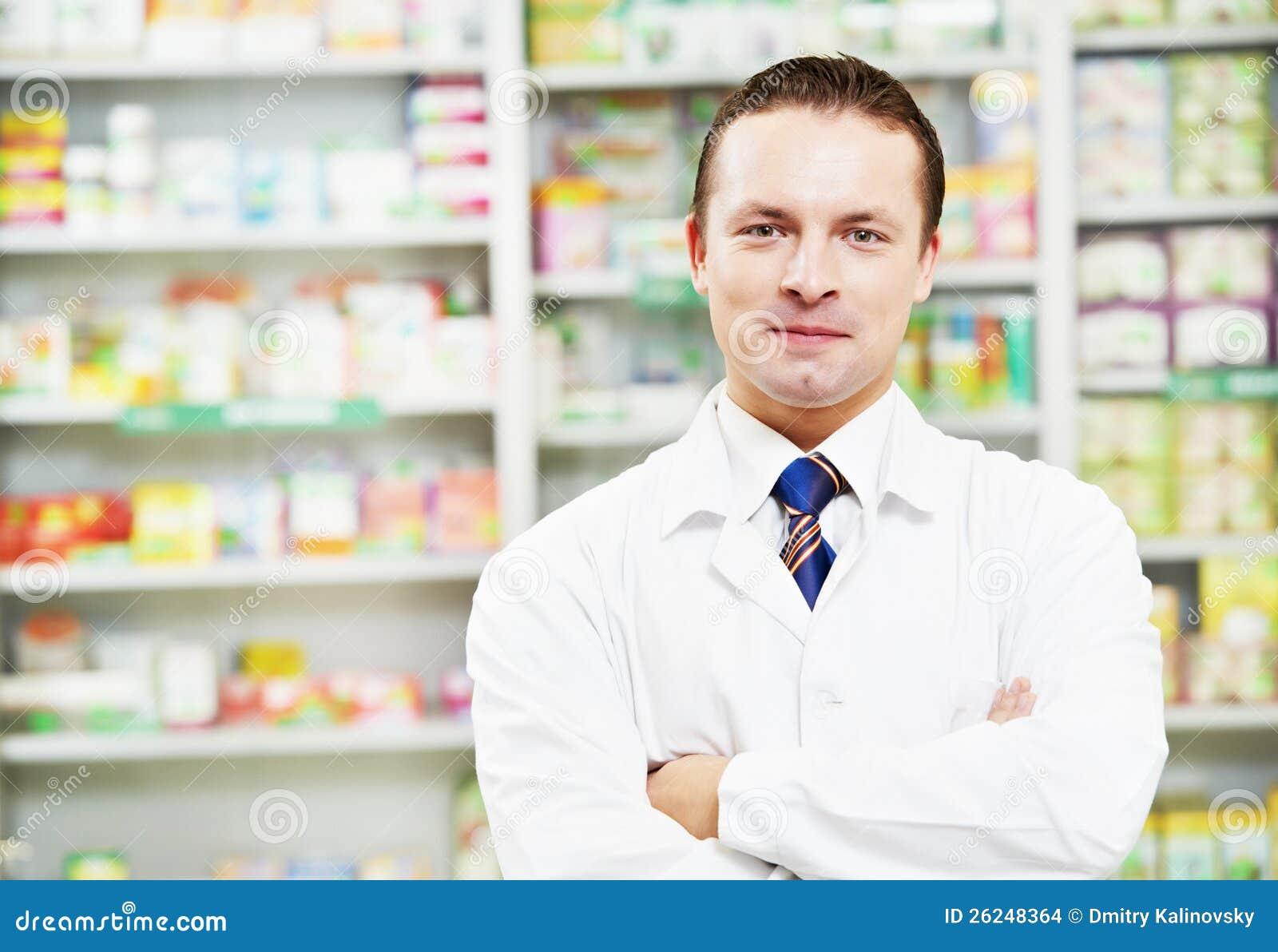 Säker apotekkemistman i apotek