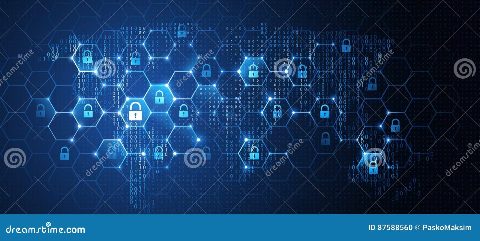 Säkerhet för globalt nätverk vektor