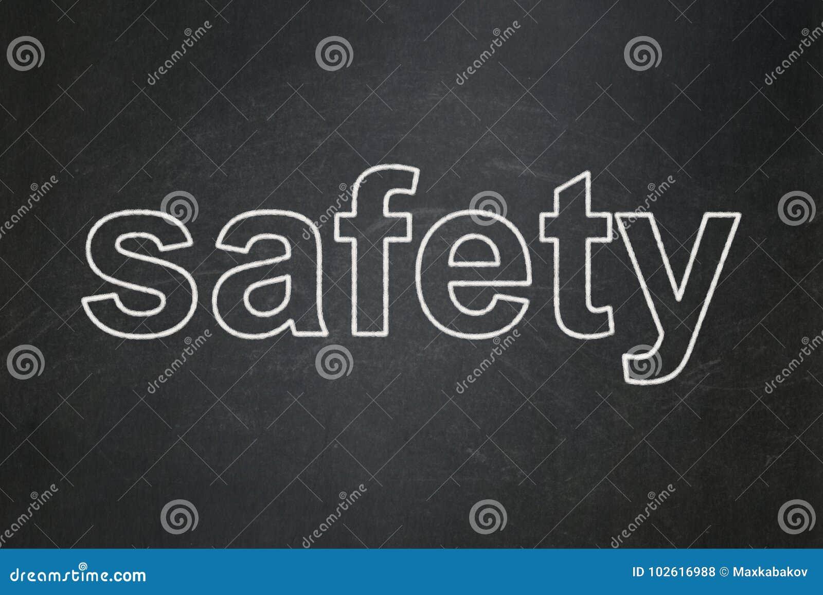 Säkerhetsbegrepp: Säkerhet på svart tavlabakgrund