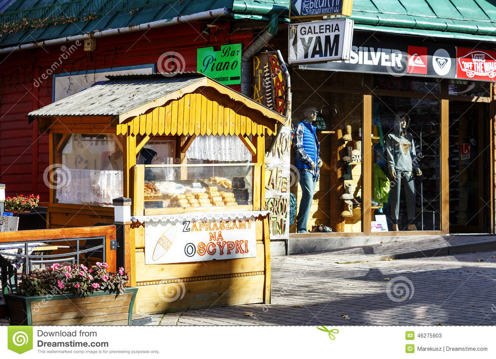 Sälja ost på Krupowki i Zakopane