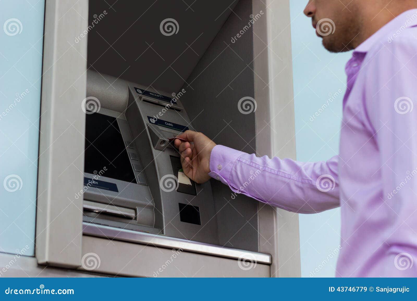sätta in pengar bankomat