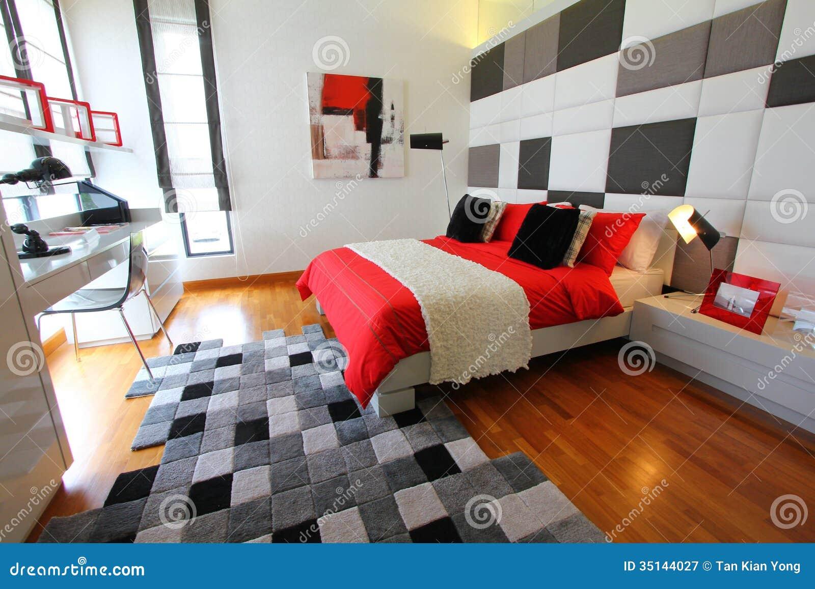 Säubern Sie Modernes Schlafzimmer Stockbild - Bild von modern ...