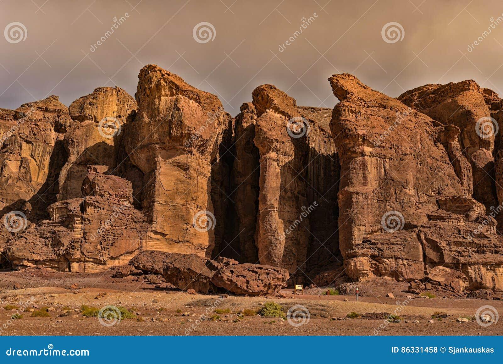 Säulen Israel Königs Solomons