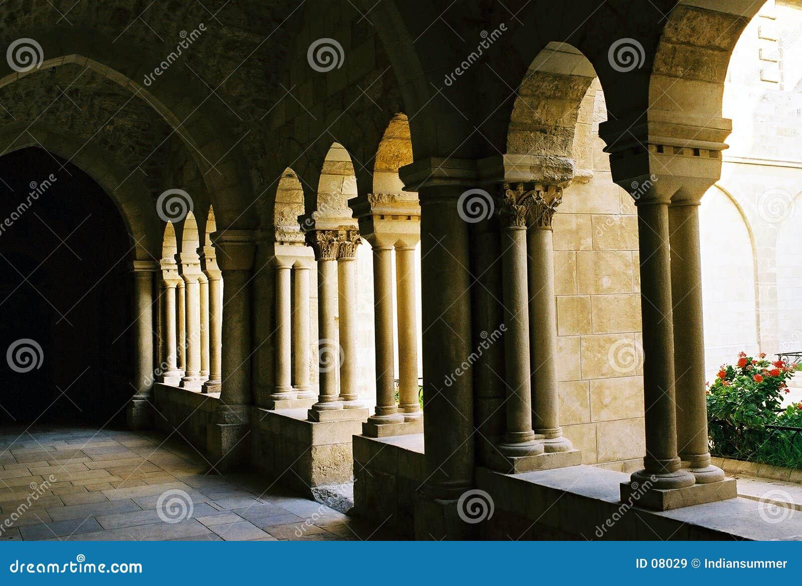 Säulengang in Bethlehem.