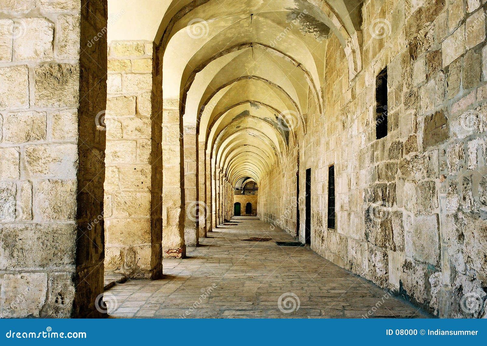 Säulengang in Jerusalem.