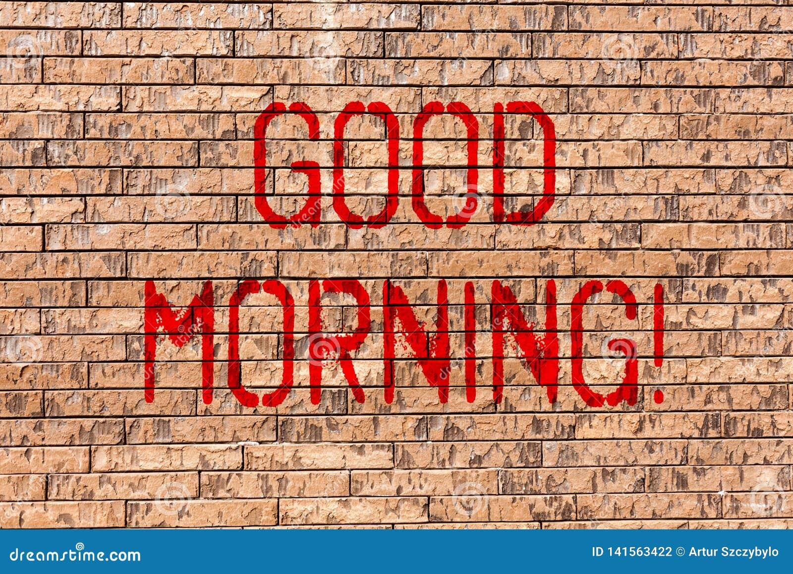 Słowa Writing Teksta Dzień Dobry Biznesowy Pojęcie Dla Witać