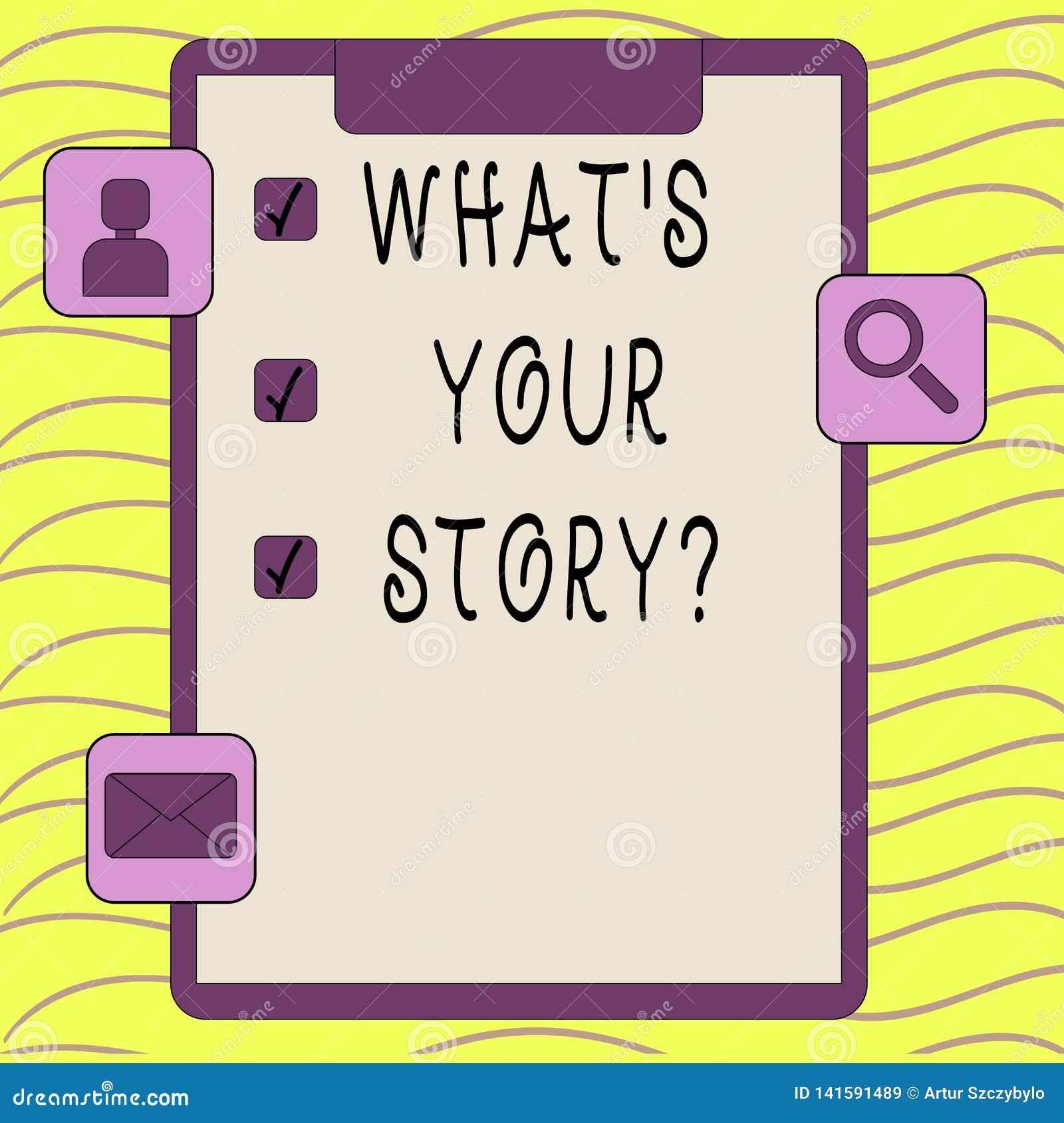 Słowo pisze tekstowi Jaki S Twój Storyquestion Biznesowy pojęcie dla Łączę Komunikuje łączliwość związek