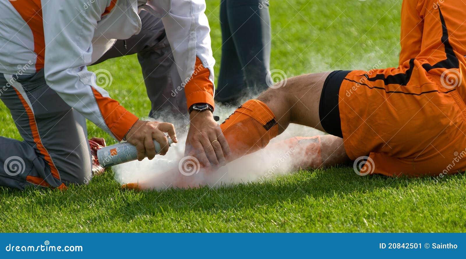 Sårad fotboll