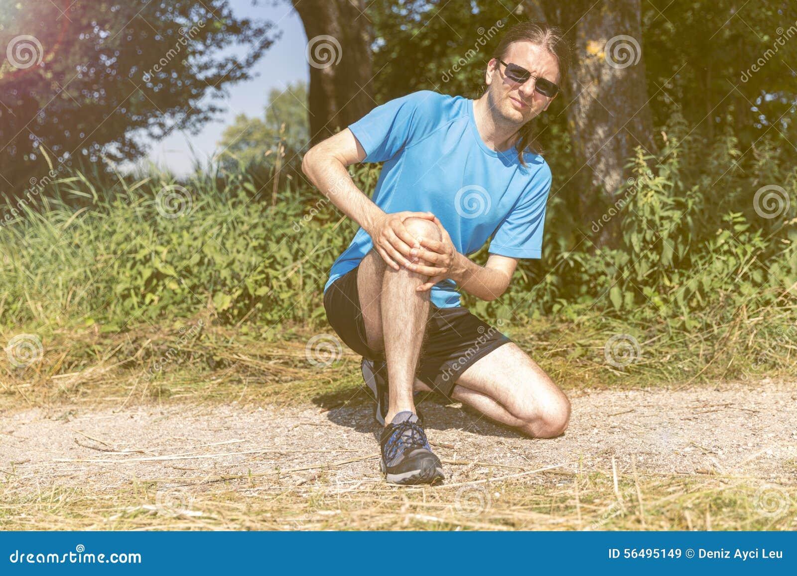 Sårad joggerman