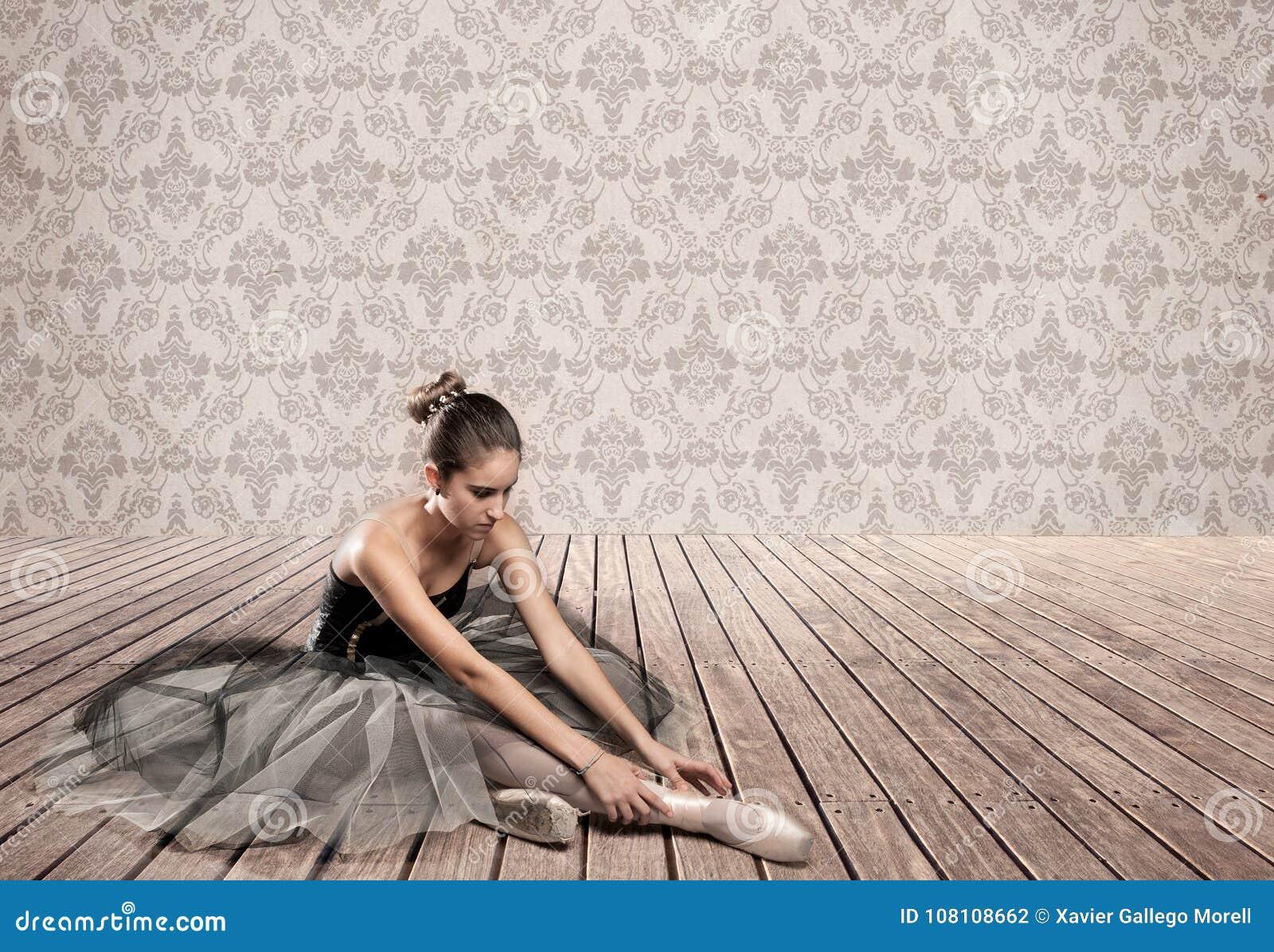 Séance attrayante de ballerine