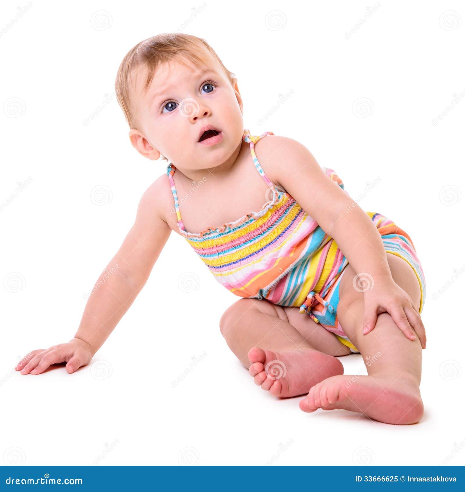 Séance caucasienne de bébé