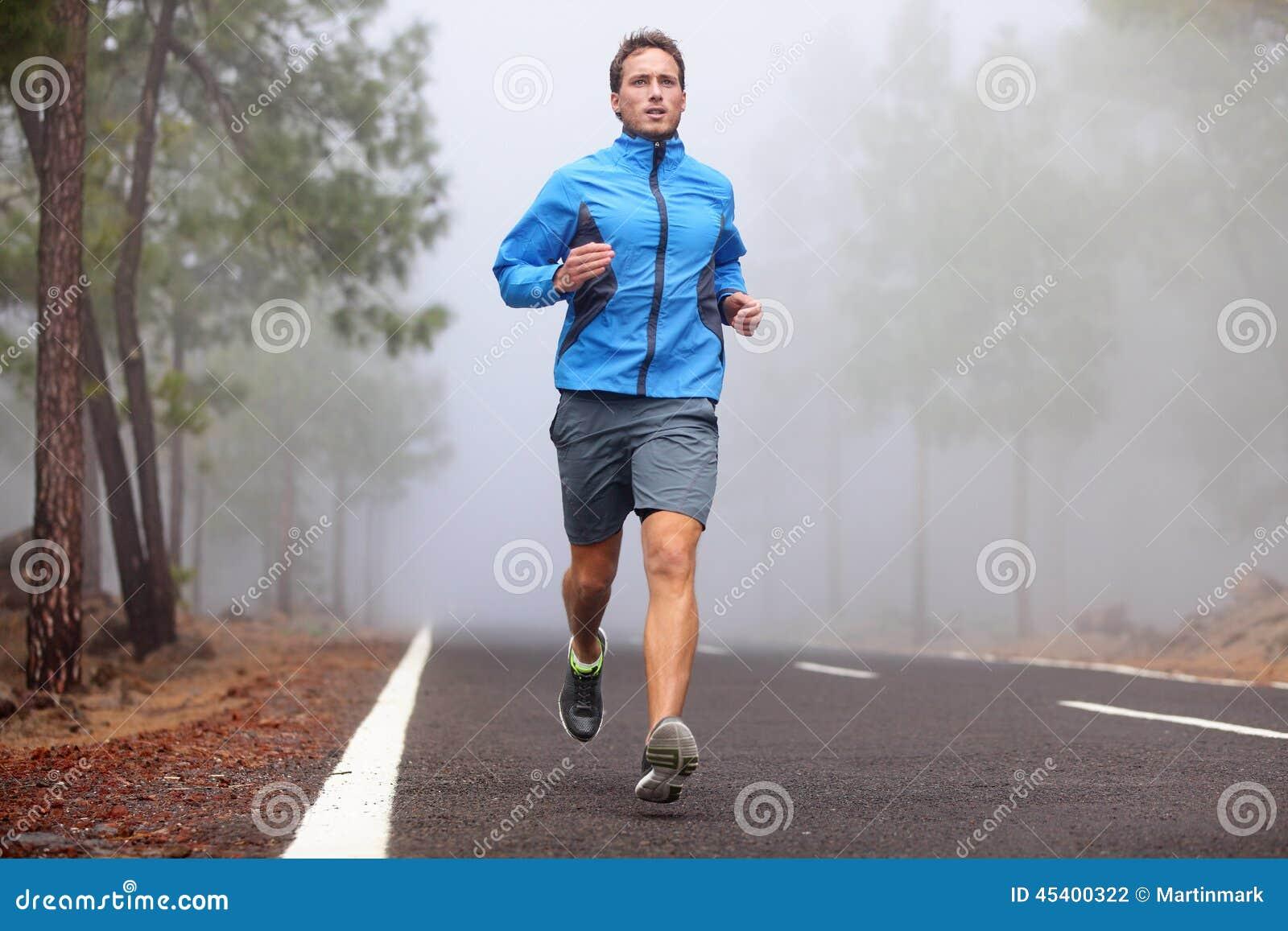Séance d entraînement courante saine d homme de coureur