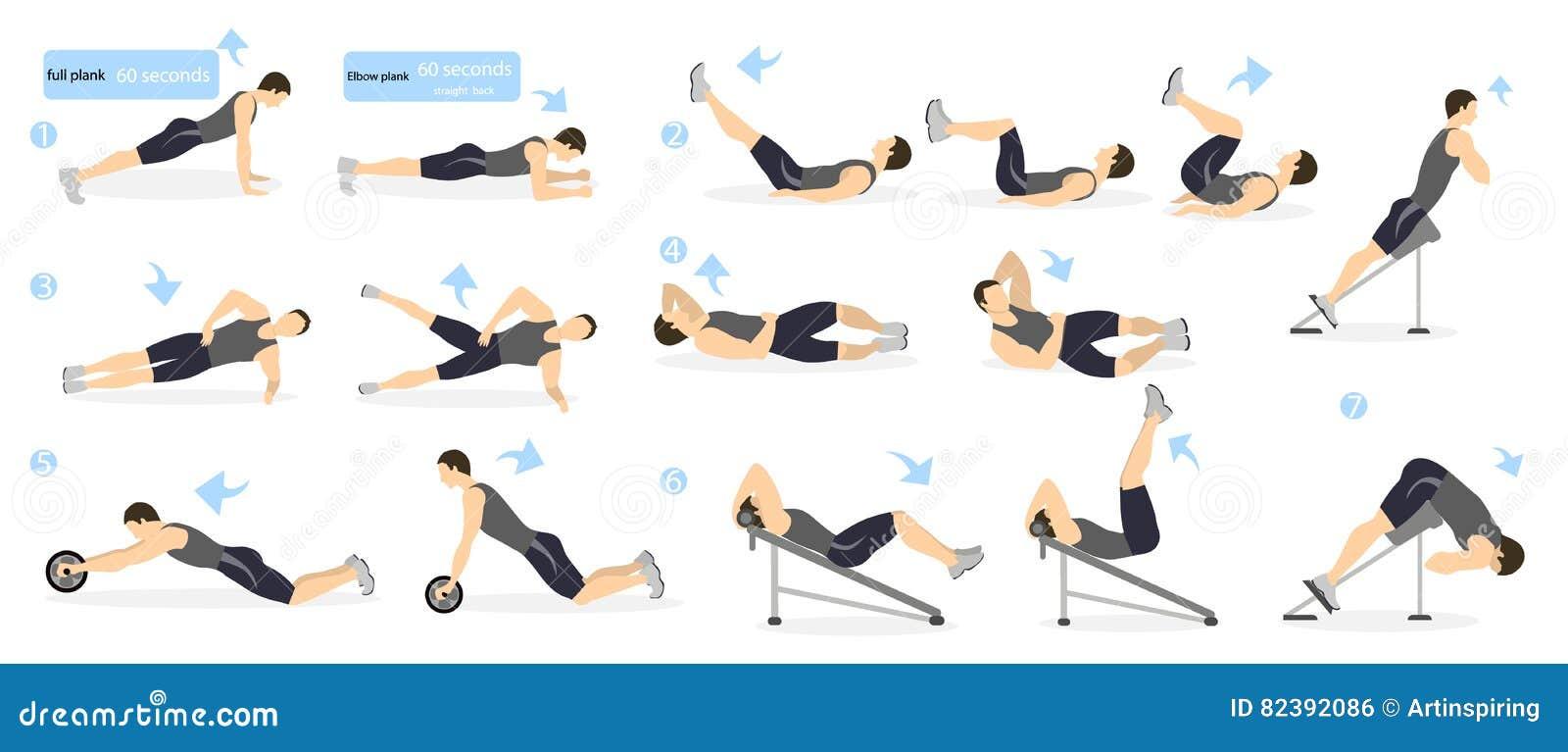 Séance d entraînement d ABS pour les hommes